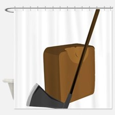 Blade and Block Shower Curtain