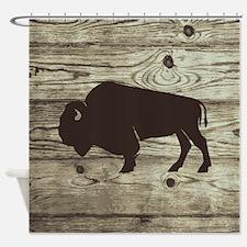 Buffalo Wood Plank Boards Shower Curtain