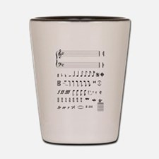 Funny Alto clef Shot Glass