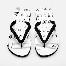 Cool Treble clef Flip Flops