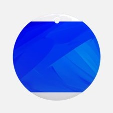 Blue Backdrop Round Ornament