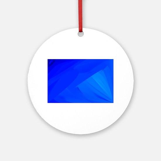 Blue Backdrop Round Ornament