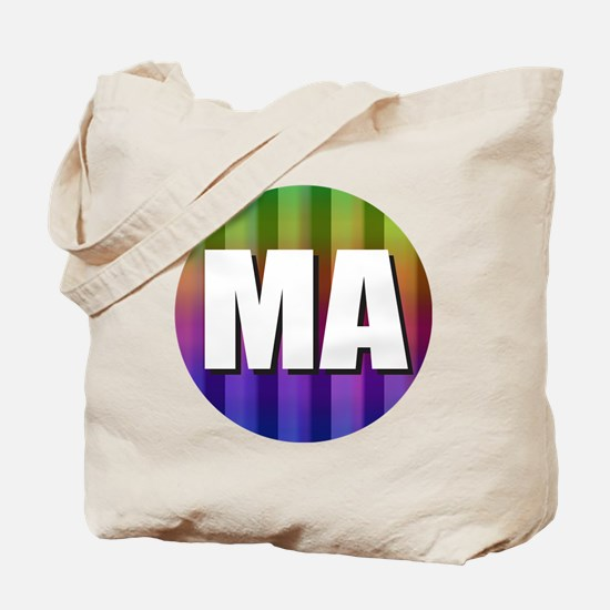 Cute Massachusetts rainbow Tote Bag
