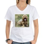 dogs laugh Women's V-Neck T-Shirt