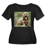 dogs laugh Women's Plus Size Scoop Neck Dark T-Shi