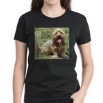 dogs laugh Women's Dark T-Shirt