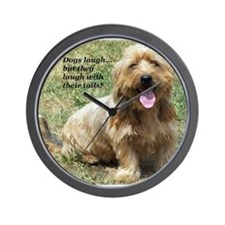 dogs laugh Wall Clock