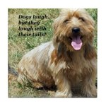 dogs laugh Tile Coaster