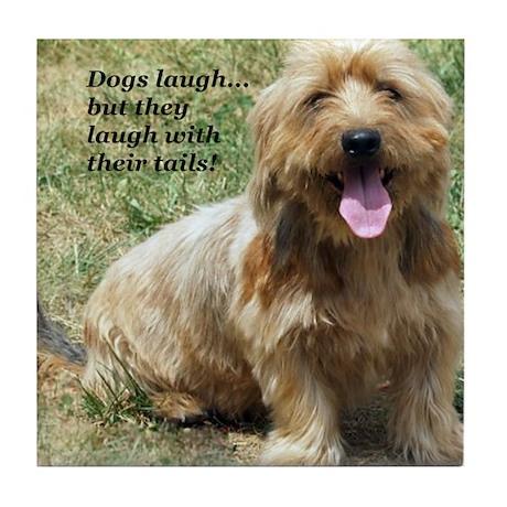 dogs laugh Tile Coaster