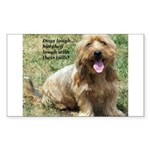 dogs laugh Rectangle Sticker