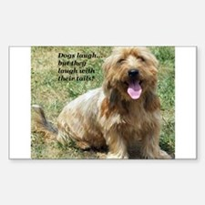 dogs laugh Rectangle Decal