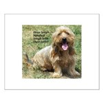 dogs laugh Small Poster