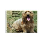 dogs laugh Rectangle Magnet