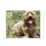 dogs laugh Postcards (Package of 8)