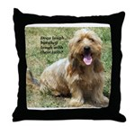 dogs laugh Throw Pillow