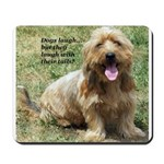 dogs laugh Mousepad