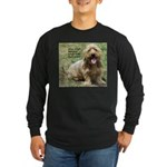 dogs laugh Long Sleeve Dark T-Shirt
