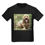 dogs laugh Kids Dark T-Shirt