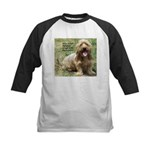 dogs laugh Kids Baseball Jersey