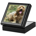dogs laugh Keepsake Box