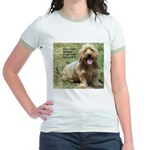 dogs laugh Jr. Ringer T-Shirt