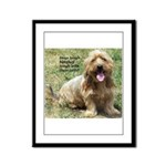 dogs laugh Framed Panel Print