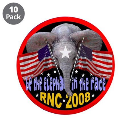 """BE THE ELEPHANT 3.5"""" Button (10 pack)"""