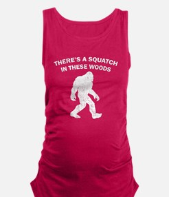 Squatch In The Woods Maternity Tank Top