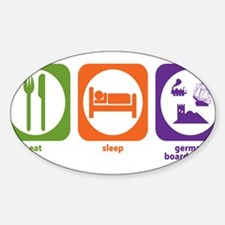 Eat Sleep German Board Games Rectangle Decal