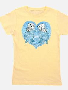 Cute Sea otter love Girl's Tee