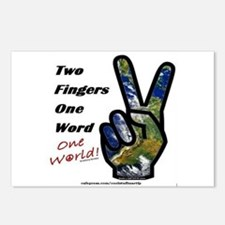 world peace sign Postcards (Package of 8)