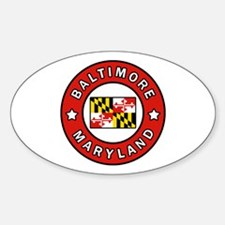 Cute Baltimore flag Decal