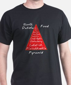 North Dakota Food Pyramid T-Shirt