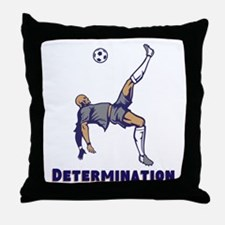 Determination (Soccer) Throw Pillow