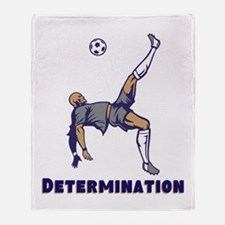 Determination (Soccer) Throw Blanket