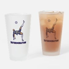 Determination (Soccer) Drinking Glass