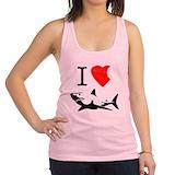 Shark Womens Racerback Tanktop