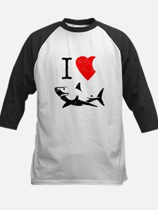 I Love Sharks Baseball Jersey