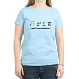 I ate some pi and it was delicious Women's Light T-Shirt