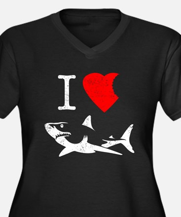 I Love Sharks Plus Size T-Shirt