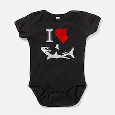 I Love Sharks Baby Bodysuit