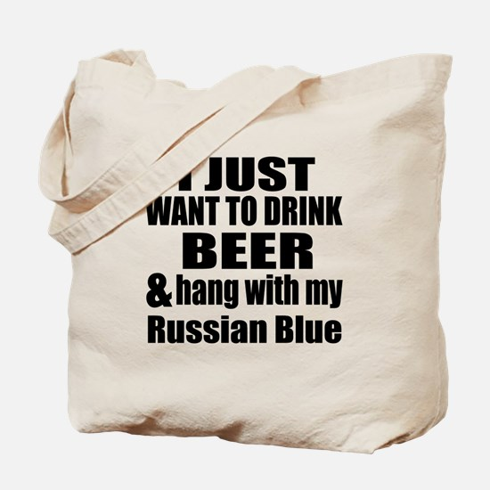 Hang With My Russian Blue Tote Bag