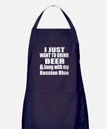 Hang With My Russian Blue Apron (dark)