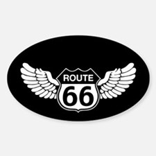 Winged Rte. 66 Decal