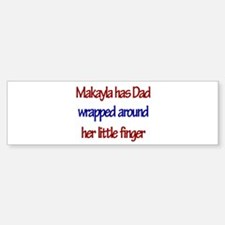 Makayla Has Dad Wrapped Aroun Bumper Car Car Sticker