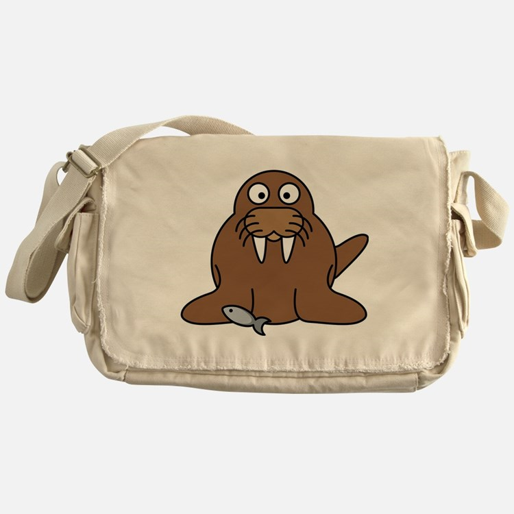 Cute Walrus Messenger Bag