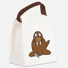 Unique Walrus Canvas Lunch Bag