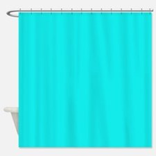 Cute Turquoise Shower Curtain