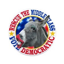 """RESCUE the MIDDLE CLASS 3.5"""" Button"""