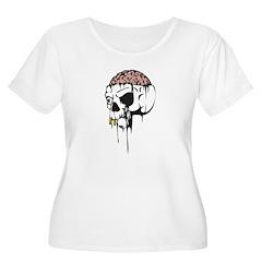 Dripping Brain Evil Skull T-Shirt